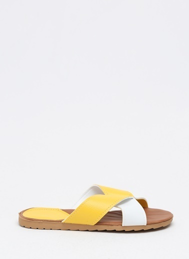 Shoes1441 Terlik Sarı